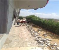 تنفيذ 4 قرارات إزالة على أراضي الدولة غرب الإسكندرية| صور