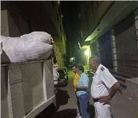 حملة إشغالات على شارعي ترعة عبدالعال وناهيا بـ«بولاق الدكرور»