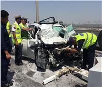 مصرع طفلة وإصابة والديها في حادث تصادم بمحور 26 يوليو