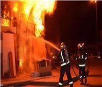 المعمل الجنائي يفحص حريق مخزن أدوات كهربائية بكرداسة