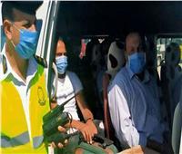 تحرير 845 مخالفة لعدم الالتزام بارتداء الكمامات بالجيزة
