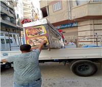 بالصور .. حملات موسعة لإزالة الإشغالات بأحياء الإسكندرية