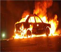 اندلاع حريق بسيارة ملاكي بكورنيش النيل أمام ماسبيرو