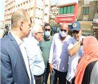 استمرارأعمال تطوير شارع ٢٣ ديسمبر ببورسعيد