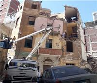 إزالة أجزاء من عقارين في الإسكندرية لخطورتهما الداهمة