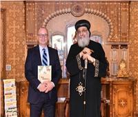 البابا تواضروس يستقبل السفير الكندي في المقر البابوي بالقاهرة