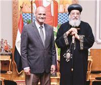 اهتمام إعلامي بحوار خالد ميري مع البابا تواضروس