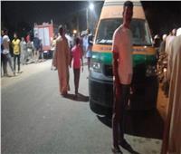 صور| انتشال جثتي شقيقتين في حادث غرق سيارة بنجع حمادي