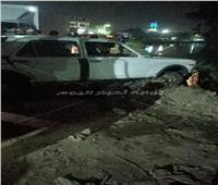 تشييع جثامين ضحايا إنقلاب سيارة في ترعة بنجع حمادي