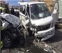 مصرع شخصين وإصابة 12 فيانقلاب «ميكروباص» بالداخلة