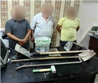 ضبط 3 أشخاص بتهمة التنقيب عن الآثار بعابدين