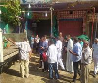 حملة لرفع الإشغالات وإعادة الانضباط للشوارع في أسيوط