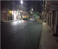 استمرار أعمال رصف وتطوير شوارع مدينة المعلمين بمدينة أسيوط
