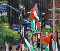 تظاهرة في مدينة دالاس الأمريكية تضامنًا مع الأسرى الفلسطينيين