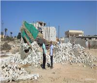 حملات موسعة لإزالة التعديات واسترداد أراضى الدولة بنطاق أحياء الإسكندرية