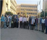 انطلاق قافلة شاملة من جامعة الزقازيقلقرية الدبيكي بمركز الحسينية