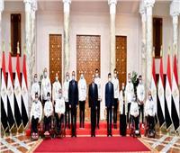 ننشر صور تكريم الرئيس السيسي لأبطال مصر البارالمبيين