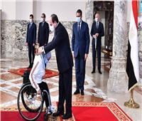 الرئيس السيسي يشيد بما حققه الأبطال الرياضيون في رفع اسم مصر عالياً