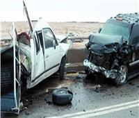 مصرع وإصابة 5 أشخاص في حادث تصادم سيارتين بأسوان