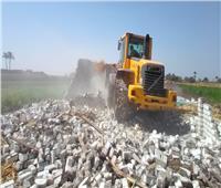 إزالة 328 حالة تعدي ضمن الموجة الـ 18لإزالة التعديات في بني سويف