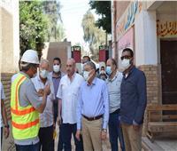 محافظ المنيا يتابع تنفيذ مشروعات «حياة كريمة» بقرية ميانة في مغاغة
