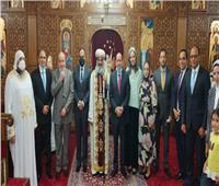 بالصور.. الكنيسة القبطية تودع السفير المصري في روما