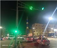 تركيب إشارات مرورية بشوارع بورسعيد ضمن أعمال التطوير