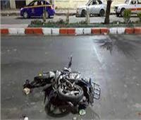 إصابة 3 شباب في انقلاب دراجة بخارية بقنا