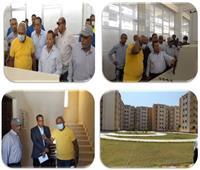 مسئولو «الإسكان» يقومون بجولة تفقدية في مدينة المنيا الجديدة | صور