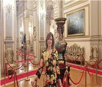من داخل قصر عابدين.. إلهام شاهين: مصر العراقة والأصاله والجمال والرقى