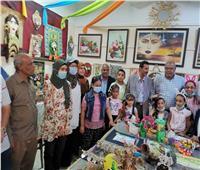 افتتاح المعرض الختامي للنشاط الصيفي ومركز تنمية القدرات بنجع حمادي