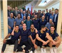 قنصل مصر بالسعودية يقيم مأدبة عشاء لبعثة يد الزمالك
