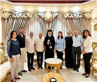 الأنبا باسيليوس يستقبل ممثلة الأرش العالمي بالشرق الأوسط