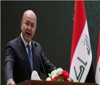 الرئيس العراقي: الهجوم الإرهابي بـ«ديالي» محاولة خسيسة لزعزعة استقرارانا