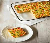 فطور للأطفال| عجة بالخضروات و الجبن