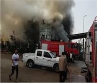 السيطرة على حريق داخل مصنع ملابس في السلام