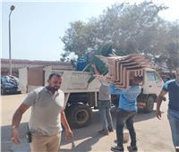 رفع 130 حالة إشغال وتعديات بـ«المنيرة الشرقية» | صور