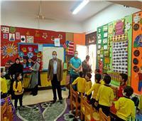 بعد «جلوس الطلاب على الأرض».. جولة لوكيل تعليم القليوبية بمدارس قها