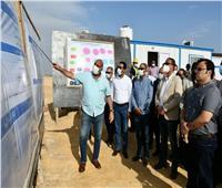 محافظ الفيوم ونائب وزير الاسكان يتفقدان تطوير محطة مياه قحافة