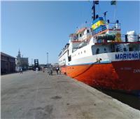 تفريغ 1800 رأس ماشية وتداول 23 سفينة بموانئ بورسعيد