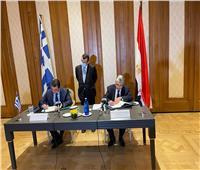وزير الكهرباء يوقع مذكرة تفاهم للربط الكهربائي بين مصر واليونان