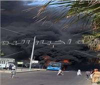 الحماية المدنية تسيطر على حريق أتوبيس نقل عام بالإسكندرية   صور