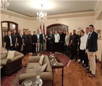 بعثة الزمالك تلبي دعوة «مأدبة العشاء» من السفير المصري في كينيا