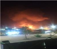 ٤٠ سيارة إطفاء وإسعاف للسيطرة على حريق مصنع الاستثمار