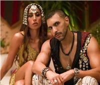دينا الشربيني وحسن أبو الروس في جلسة تصوير   صور