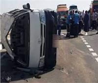 مصرع وإصابة 16 شخصا في انقلاب سيارة بالمنيا
