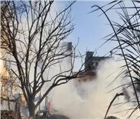 السيطرة على حريق نشب بأرض زراعية و٦ منازل بإيتاى البارود   صور