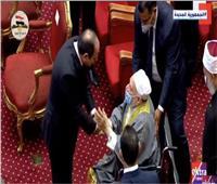 لميس الحديدي عن حديث الرئيس السيسي وعمر هاشم:مشهد عظيم يعكس الأصالة