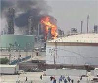اندلاع حريق في وحدة بمصفاة ميناء الأحمدي في الكويت  فيديو
