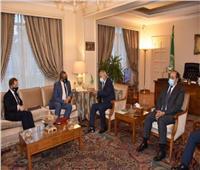 «أبو الغيط» يستقبل وزير الدولة البريطاني لشؤون الشرق الأوسط وشمال إفريقيا